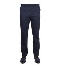Luigi Morini grote maat katoenen broek donkerblauw elastische band