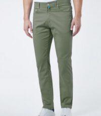 Pierre Cardin grote maat casual 5 pocket stretch jeans olijfgroen