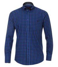 Casa Moda overhemd extra lange mouw 72cm blauwe ruit