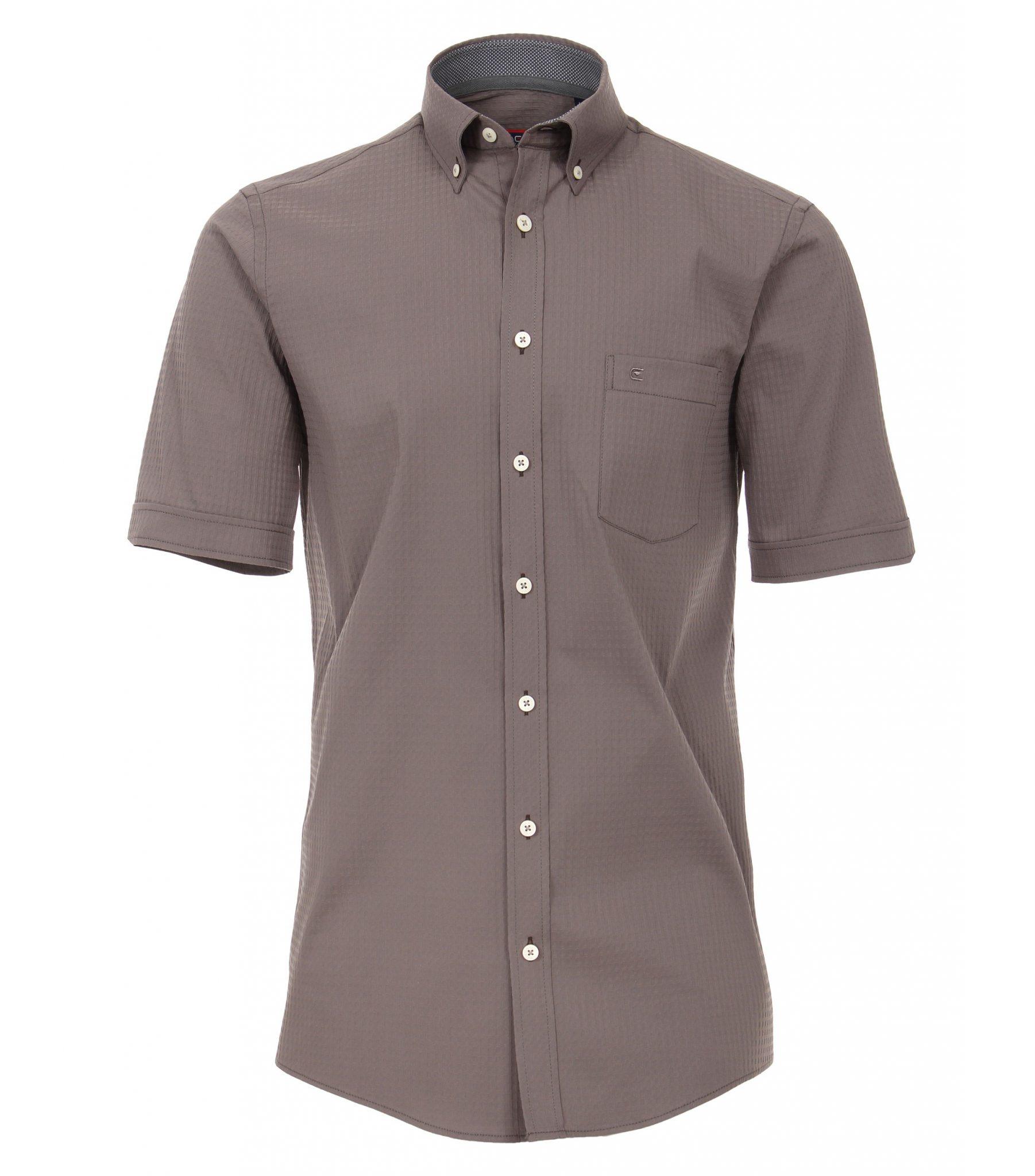 Donkergrijs Overhemd.Casa Moda Grote Maat Overhemd Korte Mouw Donkergrijs