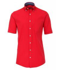 Casa Moda grote maat overhemd korte mouw rood