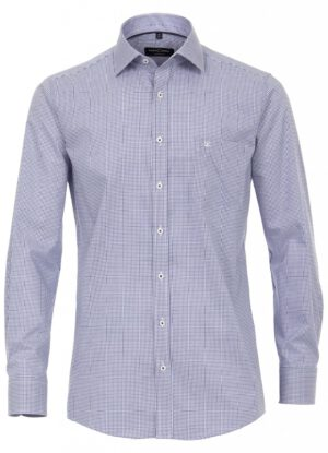Casa Moda overhemd extra lange mouw 72cm blauw en wit ruitje