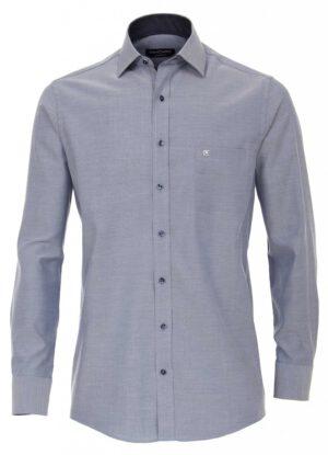 Casa Moda overhemd extra lange mouw 72cm blauw gemeleerd