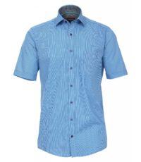 Casa Moda grote maat overhemd korte mouw blauw fantasie