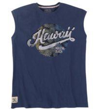 Redfield mouwloos t-shirt grote maat blauw Hawaii Makena Beach