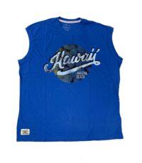 Redfield mouwloos t-shirt grote maat lichtblauw Hawaii Makena Beach