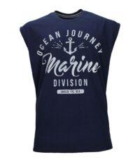 Redfield mouwloos t-shirt grote maat donkerblauw Ocean Journey