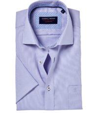 Casa Moda korte mouw grote maat overhemd lila strijkvrij