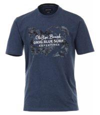 Casa Moda t-shirt grote maat blauw Clifton Beach