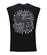 Redfield mouwloos t-shirt grote maat zwart Crafted Goods