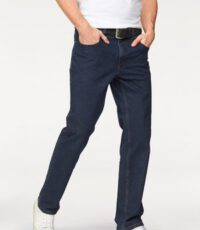 Pionier grote maat stretch jeans donkerblauw model Thomas