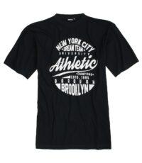 Adamo grote maat t-shirt korte mouw zwart New York
