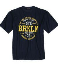 Adamo grote maat t-shirt korte mouw navy New York Athletic