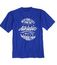 Adamo grote maat t-shirt korte mouw blauw New York