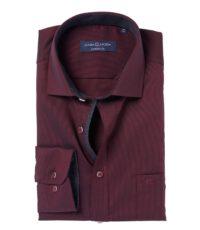 Casa Moda overhemd extra lange mouw 72cm donkerrood
