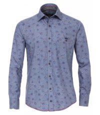 Casa Moda overhemd extra lange mouw 72cm blauw Canada patroon