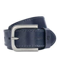 Pierre Cardin extra lange lederen riem 4cm breed donkerblauw