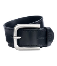 Pierre Cardin extra lange lederen riem 4cm breed zwart