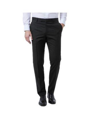 Luigi Morini grote maat stretch pantalon zwart