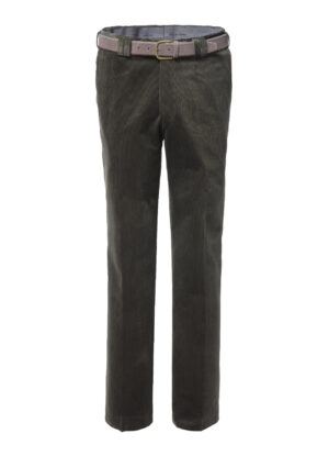 Luigi Morini grote maat stretch ribcord pantalon groen