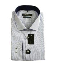 Maneven grote maat overhemd lange mouw blauw en wit ruitje strijkvrij