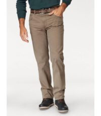 Pionier casual lengte maat stretch jeans donkerbeige model Marc