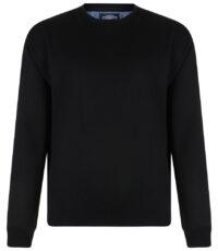 Kam sweater ronde hals zwart