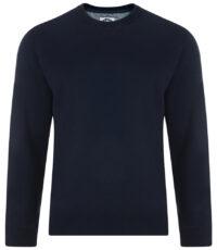 Kam sweater ronde hals donkerblauw