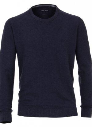 Casa Moda grote maat ronde hals trui donkerblauw