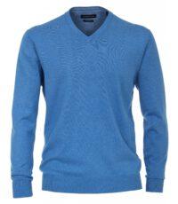 Casa Moda grote maat v-hals trui blauw