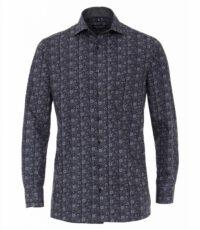Casa Moda overhemd extra lange mouwlengte7 blauw fantasie print