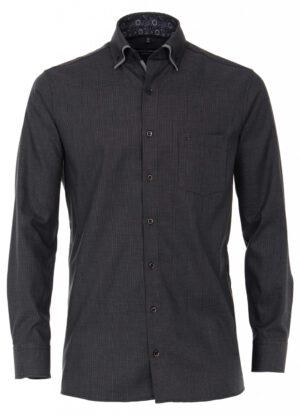 Casa Moda overhemd extra lange mouwlengte7 zwart dubbel boord