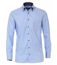 Casa Moda overhemd extra lange mouwlengte7 blauw dubbel boord