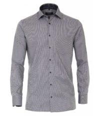 Casa Moda overhemd extra lange mouwlengte7 grijs contrast strijkvrij