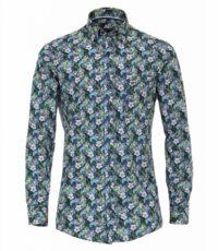 Casa Moda overhemd extra lange mouwlengte7 bloem print
