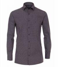 Casa Moda overhemd extra lange mouwlengte7 donkerblauw en bordeauxrood