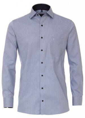 Casa Moda overhemd extra lange mouwlengte7 blauw contrast strijkvrij