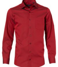 Casa Moda overhemd extra lange mouwlengte7 rood strijkvrij