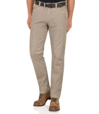 Pioneer grote maat casual stretch jeans lichtbeige model Thomas