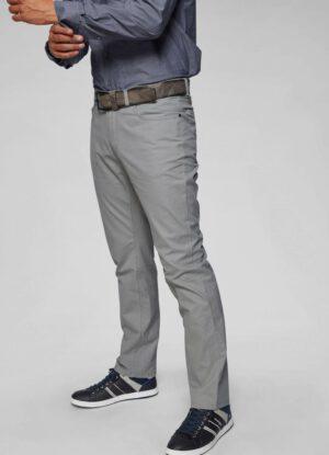 Pioneer grote maat casual stretch jeans grijs model Thomas