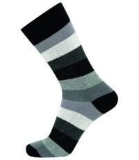 Claudio heren sokken in maat 40-47 zwart wit en grijs