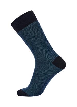 1 paar heren sokken van het merk Claudio in blauw gemeleerd