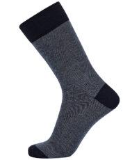1 paar heren sokken van het merk Claudio in donkerblauw gemeleerd