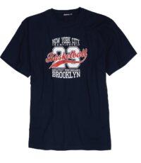 Adamo grote maat t-shirt donkerblauw Basketball