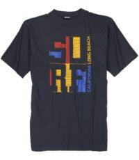 Adamo grote maat t-shirt antracietgrijs California Long Beach