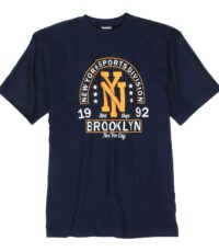 Adamo grote maat t-shirt donkerblauw New York Sports Division