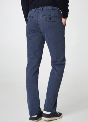 Pionier chino stretch grote maat blauw model Robert