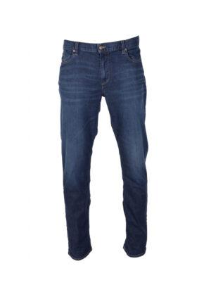 Alberto lengte maat stretch jeans darkblue stonewashed