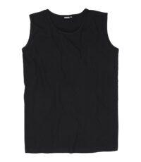 Adamo grote maat mouwloos t-shirt zwart