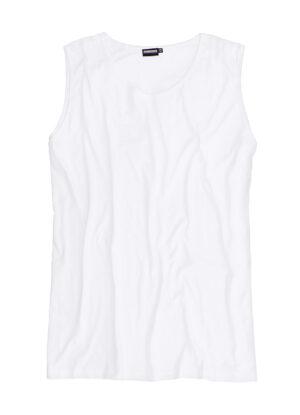 Adamo grote maat mouwloos t-shirt wit